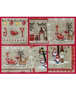 Cardinal Mystery Sampler Part 3 Christmas Carols Joy cross stitch Mani d... - $7.20