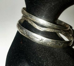 Vintage 3 Piece Set Sterling 925 Silver Bangle Bracelets - $37.24