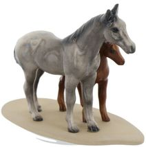 Hagen Renaker Miniature Horse Appaloosa and Colt on Base image 7