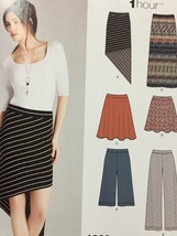Simplicity Sewing Pattern 1068 Misses Knit Skirts Pants Size 4-12 Uncut - $16.11