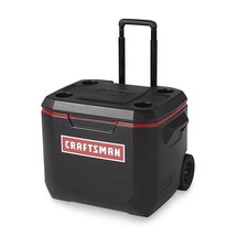 Craftsman Wheeled Cooler 50 QT Portable Food Beverage Can Storage Box Ic... - $87.12