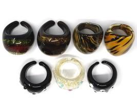 LOT OF 7 ANTICA MURRINA VENEZIA RINGS, MURANO GLASS, SIZE 8/8.5 image 2