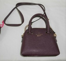 Kate Spade Mini Crossbody Satchel Bag New York Cedar Street Deep Plum - $170.37 CAD