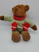 Hallmark 100th Anniversary Teddy Bear with Red Mittens & Scarf - $6.71