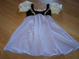 Size Child Medium Costume Depot Skirted Dance Skating Leotard Black Lila... - $24.00