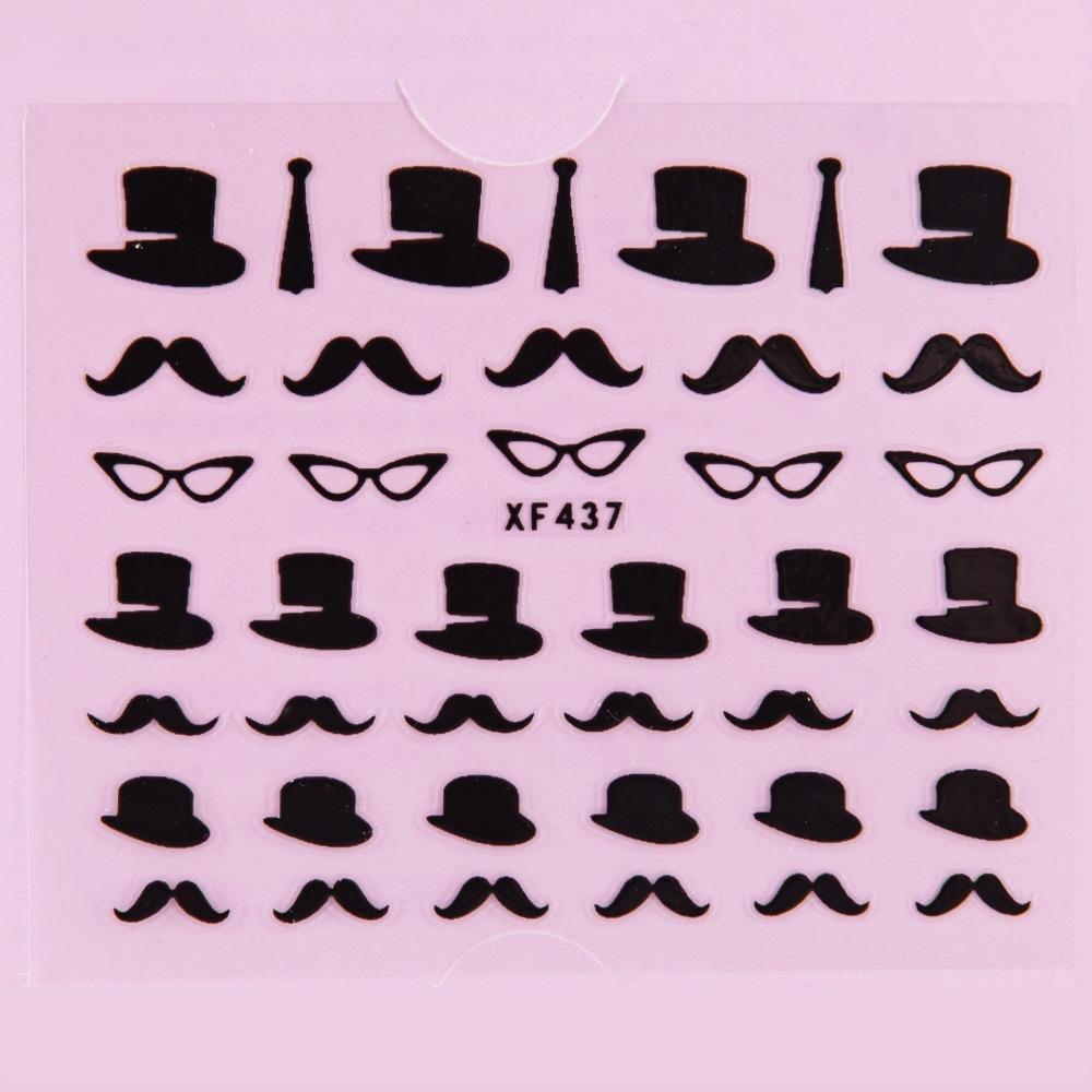 50pcs Stylish Ladies Women 3D Art Stickers color #10 size  image 3
