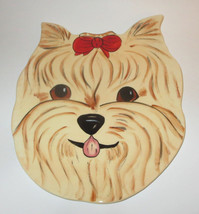 Yorkshire Terrier Plate Wall Hanging Dogs Rescue Me Now Ceramic Yorkie New - $28.70