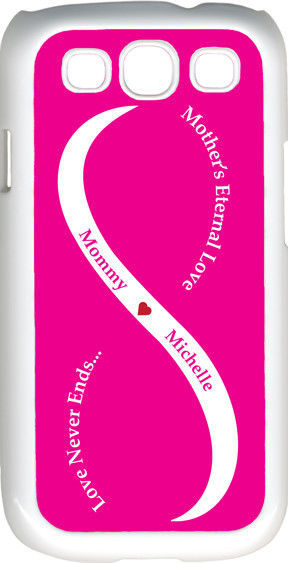 Primary image for Fuchsia Pink & White Mother's Love with Pink Names Samsung Galaxy S3 Case Cover