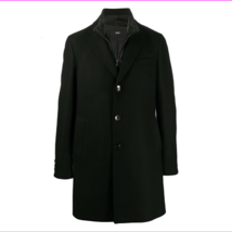Boss Hugo Boss layered single-breasted coat, Black, Size 44R - $302.73