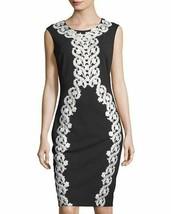 Jax Women's Black with White Floral Dress Size 4 - $62.57