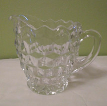Vintage Clear Crystal Beveled Designed Cream Pitcher w/Handle - Approx. ... - $7.92