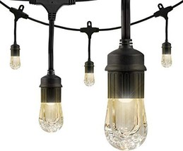 Enbrighten Classic LED Cafe String Lights, Black, 18 Foot Length, 9 Impa... - $41.93