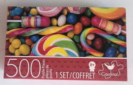 Cardinal 500 Piece Jigsaw Puzzle Colorful Candy 11 x 14 New Sealed - $11.29