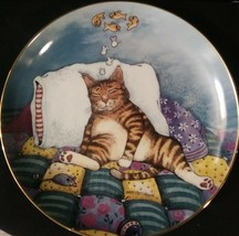 "Collector's Decorative Plate The Danbury Mint Comical Cats ""Cat Nap"" 1992 - $14.00"