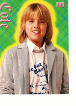 Cole Sprouse teen magazine pinup clipping let's kick it longer hair Popstar Bop