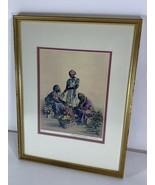 """Elizabeth O'Neill Verner """"Rest While You Wait"""" Print Signed & Framed Cha... - $148.49"""