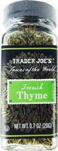 Trader Joe's French Thyme (Spices of the World) - $9.89