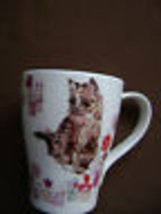DUNOON PARFECT CATS BY Pauline Alice SET/2 MUGS MADE IN ENGLAND BONE CHI... - $39.75
