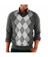 Claiborne Argyle Sweater Heather Combo Size L, XL, XXL  NEW $55.00 - $21.99