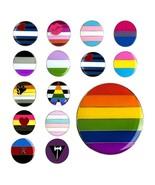 """LGBTQ PRIDE FLAG PIN 1"""" Round Gay Lesbian Bisexual LGBT Lapel Hat Tie Ta... - $5.95"""