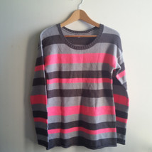 GAP Women's Striped Sweater, Acrylic Wool, Multi-color, M, Pre-owned - $22.10