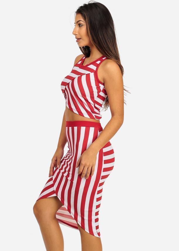 Two piece sleeveless Juniors dress set