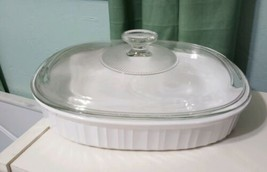 Vintage Corning Ware French White F-6-B 1.8 L Casserole Dish bowl with Lid - $26.15