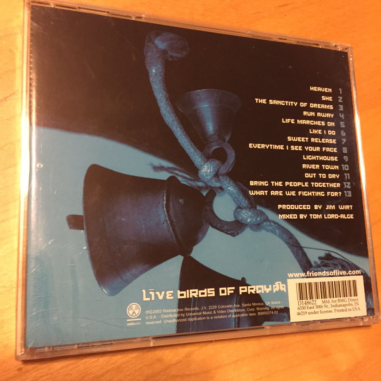 LIVE - Birds of Pray (CD, May-2003, MCA (USA)) BRAND NEW & FACTORY SEALED!!!
