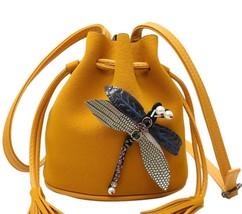 Lovely Women Small Dragonfly Bucket Shoulder Bag Handbag Crossbody Clutc... - $19.99