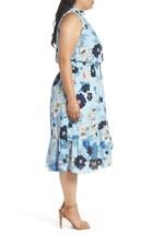 vince camuto Floral Ruffle Neck Blouson Midi Dress, size 20W, Retail $16... - $65.55