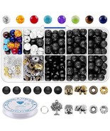 Beads for Jewelry Making Supplies Adults - 8mm Volcanic Lava Rock Beads ... - $13.11