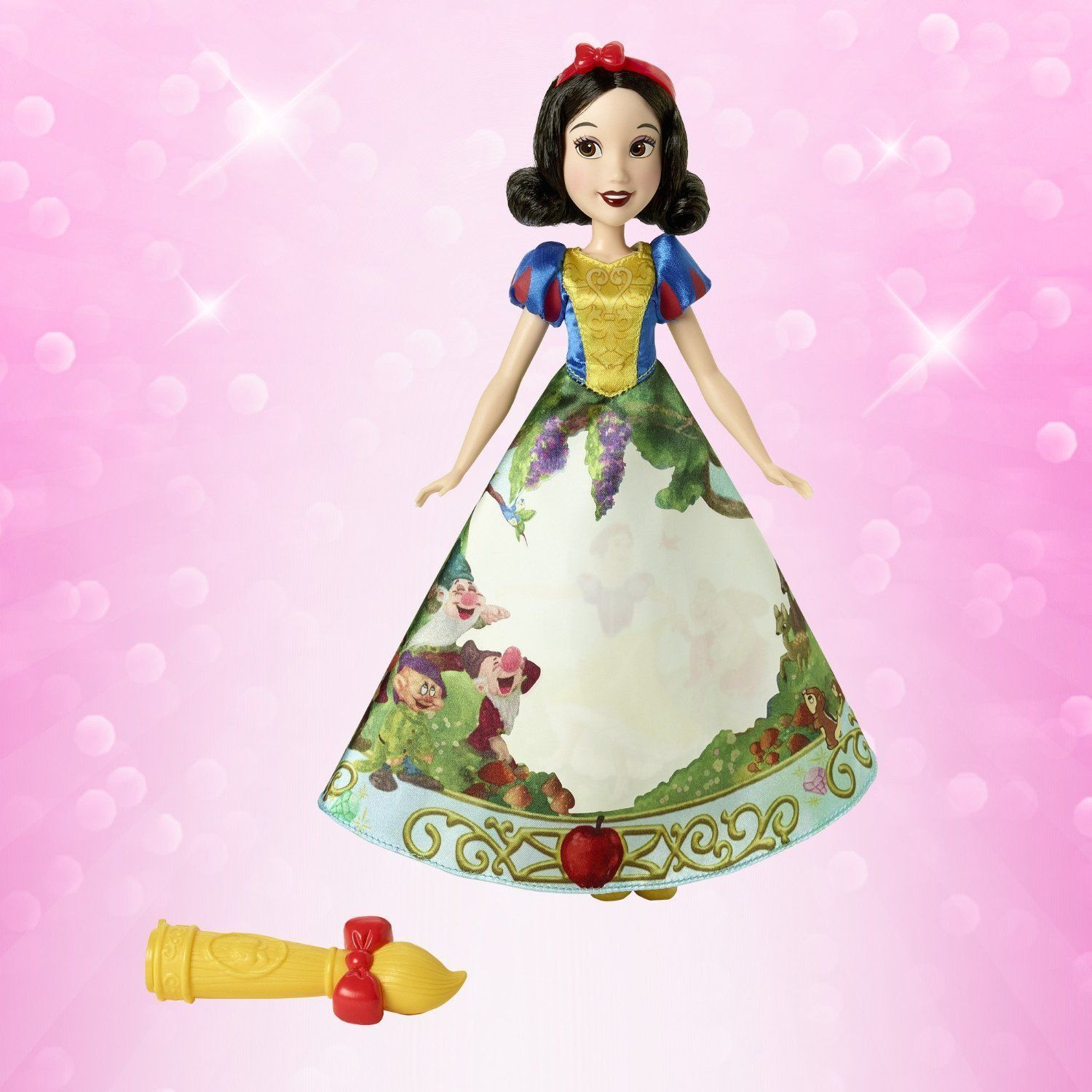 Image 1 of Disney Princess Snow White Magical Story Skirt Doll in Blue, Yellow by Hasbro