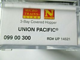 Micro-Trains # 09900300 Union Pacific 4750' 3-Bay Covered Hopper N-Scale image 7