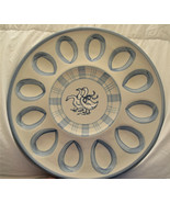 """LOUISVILLE STONEWARE  Gaggle of Geese DEVILED EGG PLATTER  13 - 3/4"""" - $38.95"""