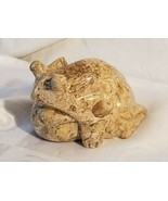 Carved Ocean Jasper Toad Frog Figurine Statue Hand Carving Brown Stone - $46.50