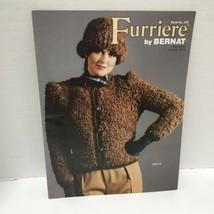 Vtg 1981 Knitting Pattern Book Furriere By Bernat #278 Sweaters - $9.89