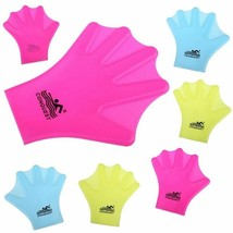 1 Pair Swimming Webbed Gloves Adult Swimming Finger Fin Hand Paddle Wear... - $8.54