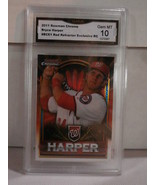 2011 Bowman Chrome Bryce Harper Red Refractor Exclusive RC GMA Grade Gem... - $40.58