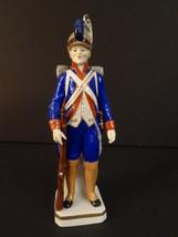 """SITZENDORF SOLDIER LIGHT INFANTRY 1775-83 PORCELAIN FIGURE 8""""1/4 EMPIRE (2) - $100.00"""
