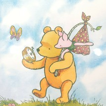 Vintage Disney Winnie The Pooh Piglet Classic Disney Framed Picture Art Rare - $27.71