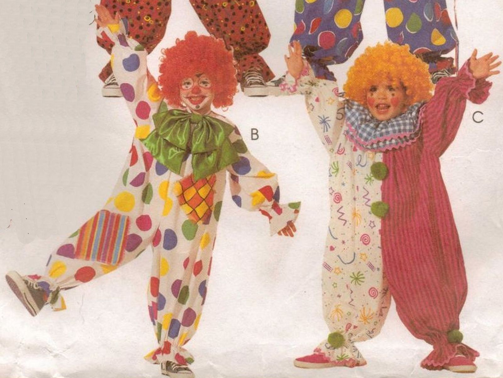 Easy 2 Hour Boys Girls CLOWN JESTER HALLOWEEN COSTUMES Sew Pattern 7-8