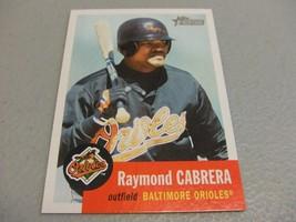 2002 Topps Heritage #420 Raymond Cabrera ROOKIE SP Short Print Baltimore... - $3.12