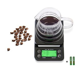 Digital Coffee Scales Timer and Tare Function 6.6lb/3kg Built-in (Green ... - $32.88