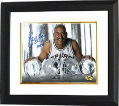 George Gervin signed San Antonio Spurs ICE 8X10 Photo HOF 96 Custom Framed - £64.90 GBP