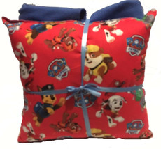 Paw Patrol Pillow And Blanket Red Paw Patrol Pillow and Blanket Set Hand... - $19.99