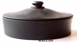 "Tiffin Black Satin Glass Oval  Liddded Candy Dish or Catchall -  ""Mother"" On Lid - $23.58"