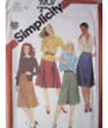 Vintage Simplicity Patron Couture 5207 Junior Ensemble de Jupes Fuss-Free - $6.30