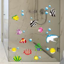 Tropical Cartoon Fish Sea Bubble Ocean World Removable Wall Bathroom Sti... - $13.99+