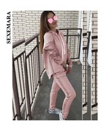 SEXEMARA Casual Two Piece Set Top and Pants Tracksuit Women Loose Hoodie... - $54.31