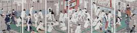 Set 6x 16x24 groß Japanisch Holzschnitt Muster Repro in Badehaus Bade Dekor - $73.35